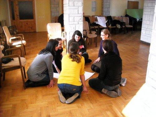 Wymiana wrażeń i pomysłów w grupach